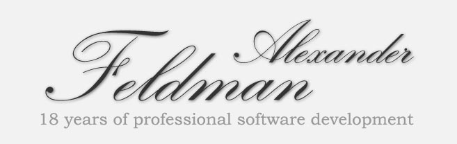 Welcome to Alexander Feldman web site!